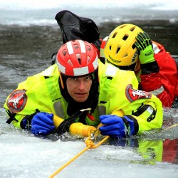 TRS Ice Rescue Suit in Use